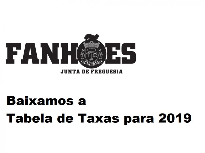 A Junta de Freguesia de Fanhões aprovou a Tabela de Taxas para 2019 a propor à Assembleia de Freguesia. Baixamos significativamente as taxas nos Canídeos e Cemitério. As pessoas são o mais importante!