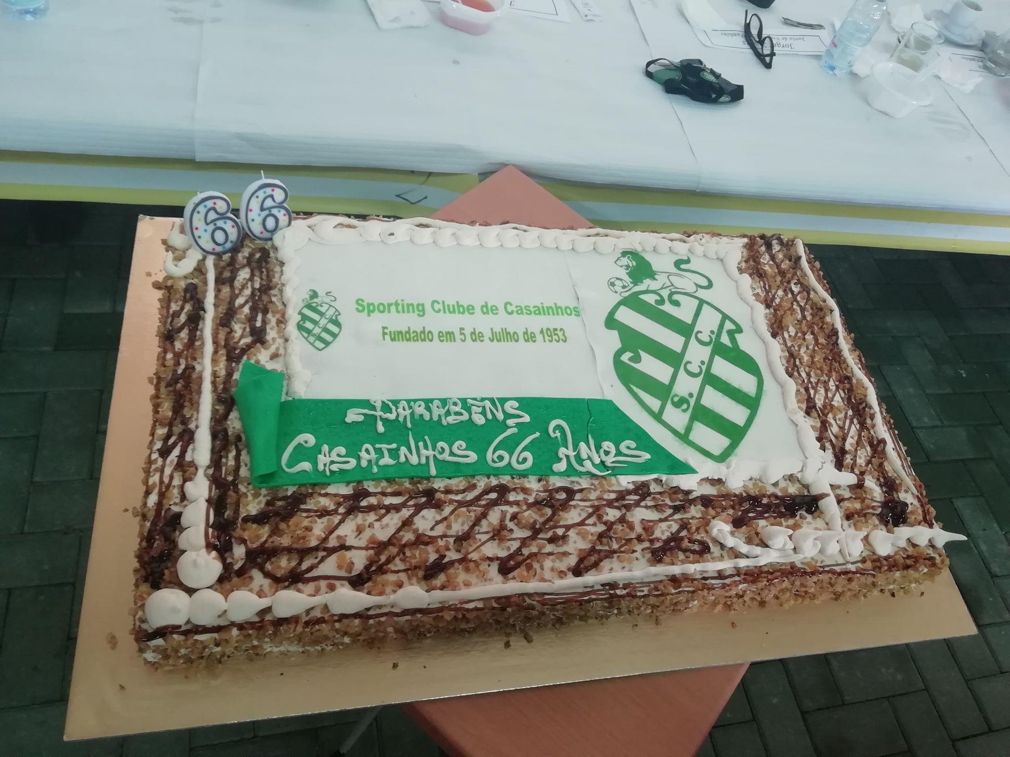 66º Aniversário do SPORTING CLUBE DE CASAINHOS fundado em 05 julho de 1953. Uma vida em prol do associtivismo e da comunidade. Parabéns pelo excelente trabalho. Bem Hajam!