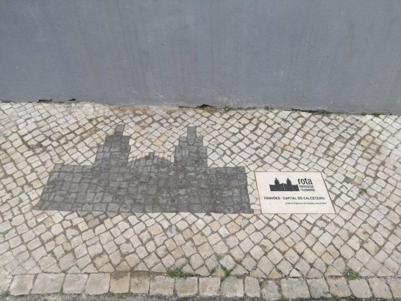 Fanhões -(f) Rota do Memorial do Convento – A Freguesia de Fanhões prepara-se para receber a Rota com a representação do seu Simbolo em Calçada e Pedra Lioz!