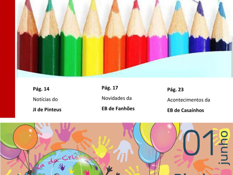 """Jornal """"O PEQUENO SALOIO""""- Disponível a Edição de junho de 2021 – """"Dia da Criança"""" Publicação da Associação de Pais e Encarregados de Educação do Núcleo Escolar de Fanhões."""