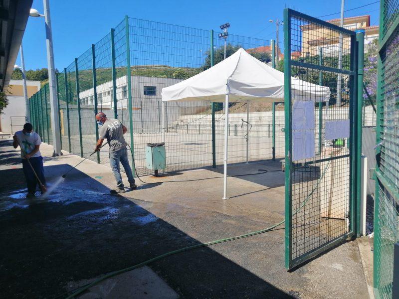 ESCOLA DE FANHÕES – Alteração das Entradas e Saídas devido à Intervenção no Campo de Jogos!